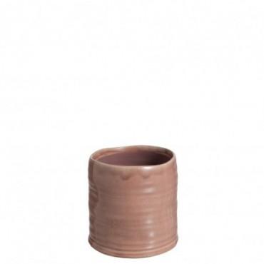 Cachepot Inegal Ceramique Rose Taille M