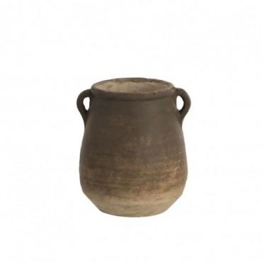 Cachepot Oreille Bord Terracotta Marron Taille S