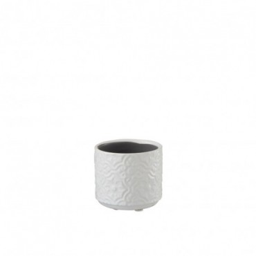 Cachepot Oriental Ceramique Blanc Extra Taille S
