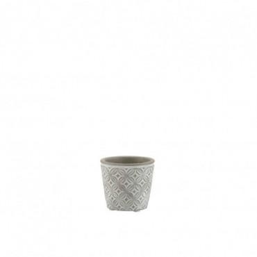 Cachepot Oriental Ceramique Gris Extra Taille S