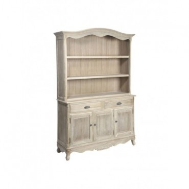 Bookshelf Baroque 2 Drawers 3 Doors Wood Natural