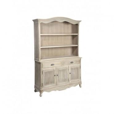 Bookshelf Baroque 2 Drawers 3 Doors Wood Natural