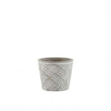 Cachepot Oriental Ceramique Gris Taille S