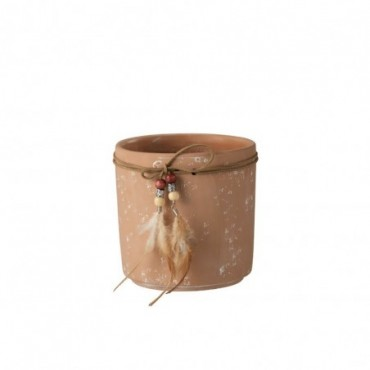 Cachepot Plumes Terracotta Taille L