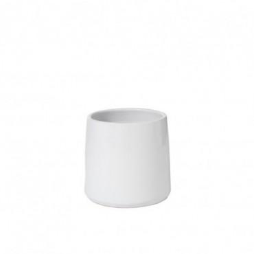 Cachepot Rond Ceramique Blanc Taille M
