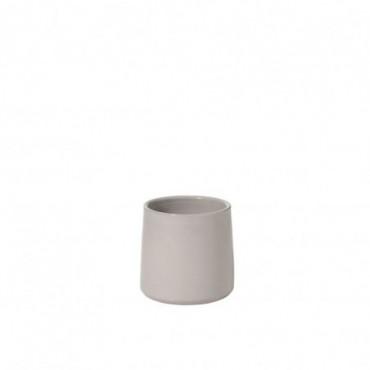 Cachepot Rond Ceramique Gris Taille S