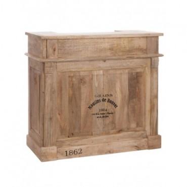 Armoire Bar 2 Tiroirs Rectangulaire bois naturel