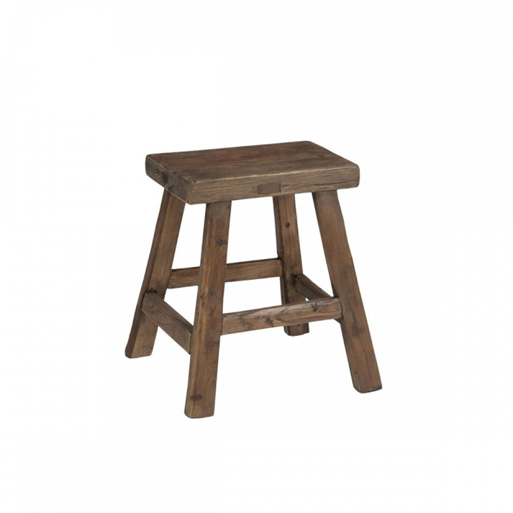 Tabouret Rectangulaire Bois Marron