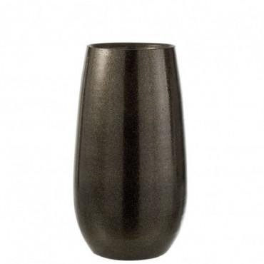Vase Brillant Ceramique Vert/Or Taille L
