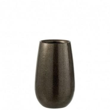 Vase Brillant Ceramique Vert/Or Taille S