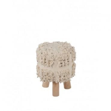 Chaise Maroc Coton Blanc