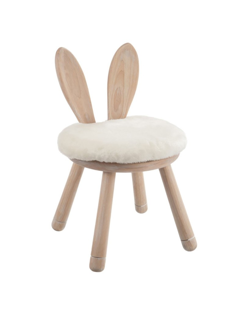 Chaise Oreil Lapin bois naturel