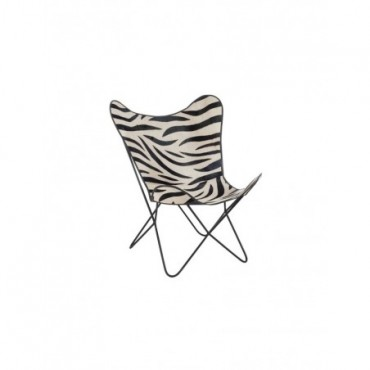 Chaise Salon Cuir Metal Zebre