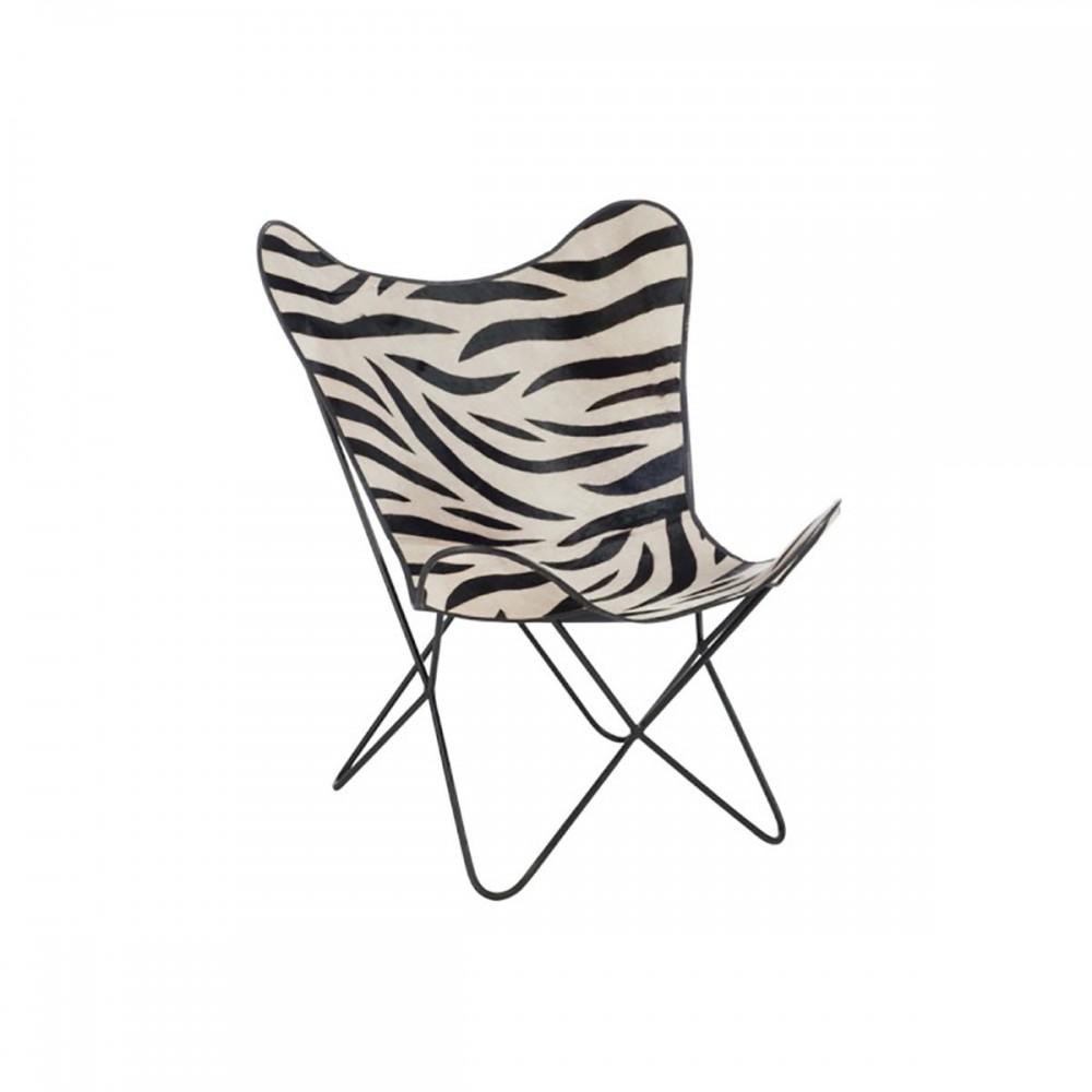 Chaise Salon Cuir Metal Zebre