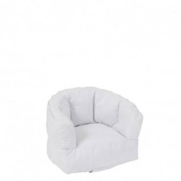 Fauteuil Enfant Bas Polyester Blanc