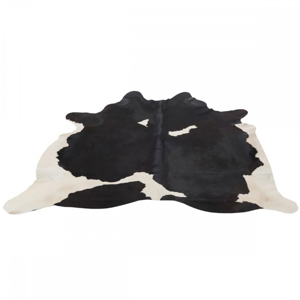 Peau De Vache Cuir Noir Blanc
