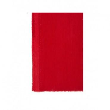 Tissu Velours Cotele Rouge