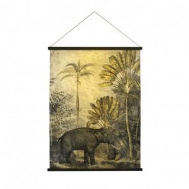 Tenture murale Tanzania  Red Cartel Eléphant