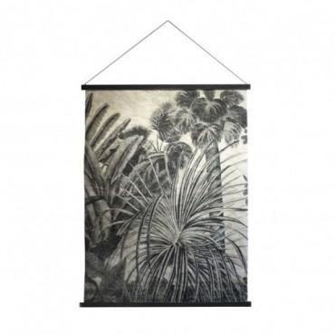 Tenture murale Palma  Red Cartel Jungle noir et blanc