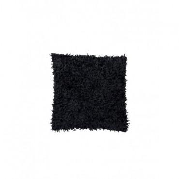 Coussin Paillette Polyester Suede Noir