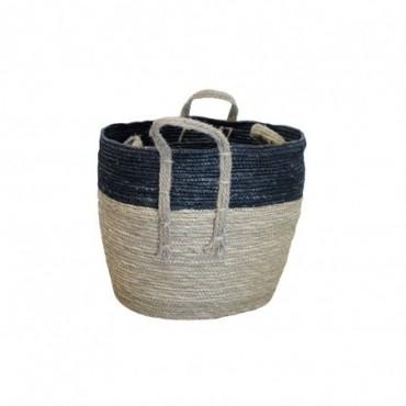 Panier Inoa lot de 2 Red Cartel Rotin naturel et noir 38cm - 32cm