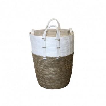 Panier Inoa lot de 2 Red Cartel Rotin naturel et blanc 30cm - 25cm