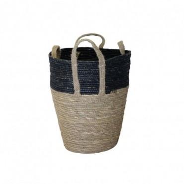 Panier Inoa lot de 2 Red Cartel Rotin naturel et noir 30cm - 25cm