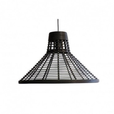 Lampe suspendue Puebla  Red Cartel Rotin noir 54,5cm