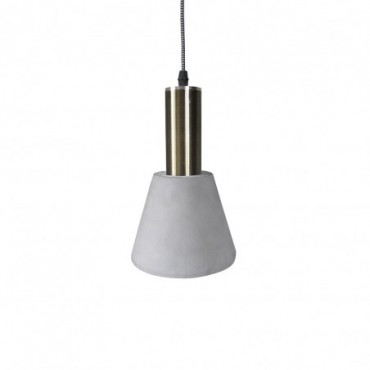 Lampe suspendue Jagger  Red Cartel Laiton brossé et béton