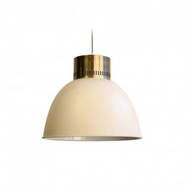 Lampe suspendue Tracy  Red Cartel Laiton brossé et blanc mat