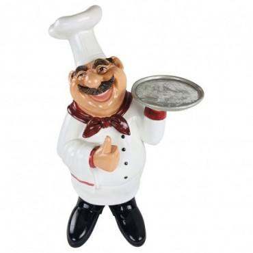 Chef en résine avec plateau 62cm