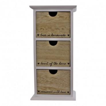 Meuble de rangement vertical 3 tiroirs Heart Of The Home