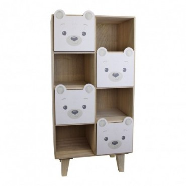 Commode de rangement à quatre tiroirs Baby Bear