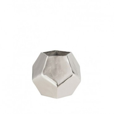 Vase Polygone Brut Aluminium Nickel Large