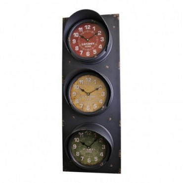 Horloge de feux de signalisation de style vintage 83 cm