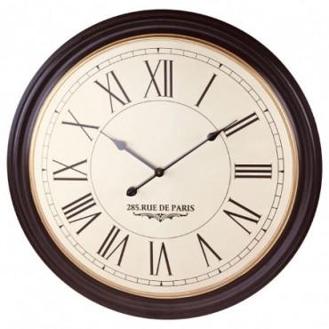 Horloge murale vintage côtelée 285 rue de Paris 80cm