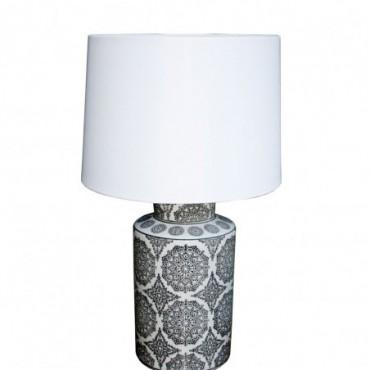 Lampe abat-jour Mandala noire 50cm