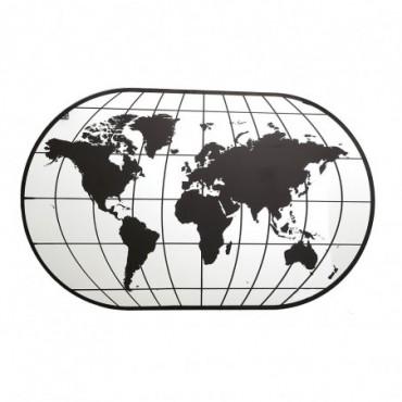 Grand miroir de carte du monde 100 cm