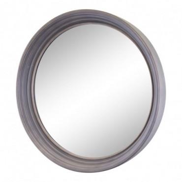 Grand miroir rond gris profond 60cm