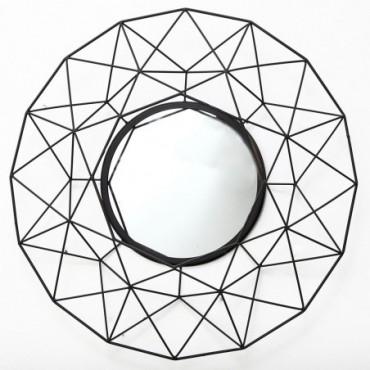 Miroir Géométrique Noir 64cm