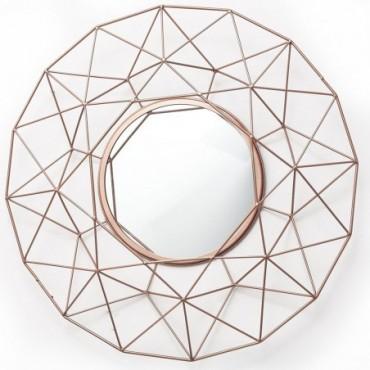 Miroir Géométrique Rose doré 64cm