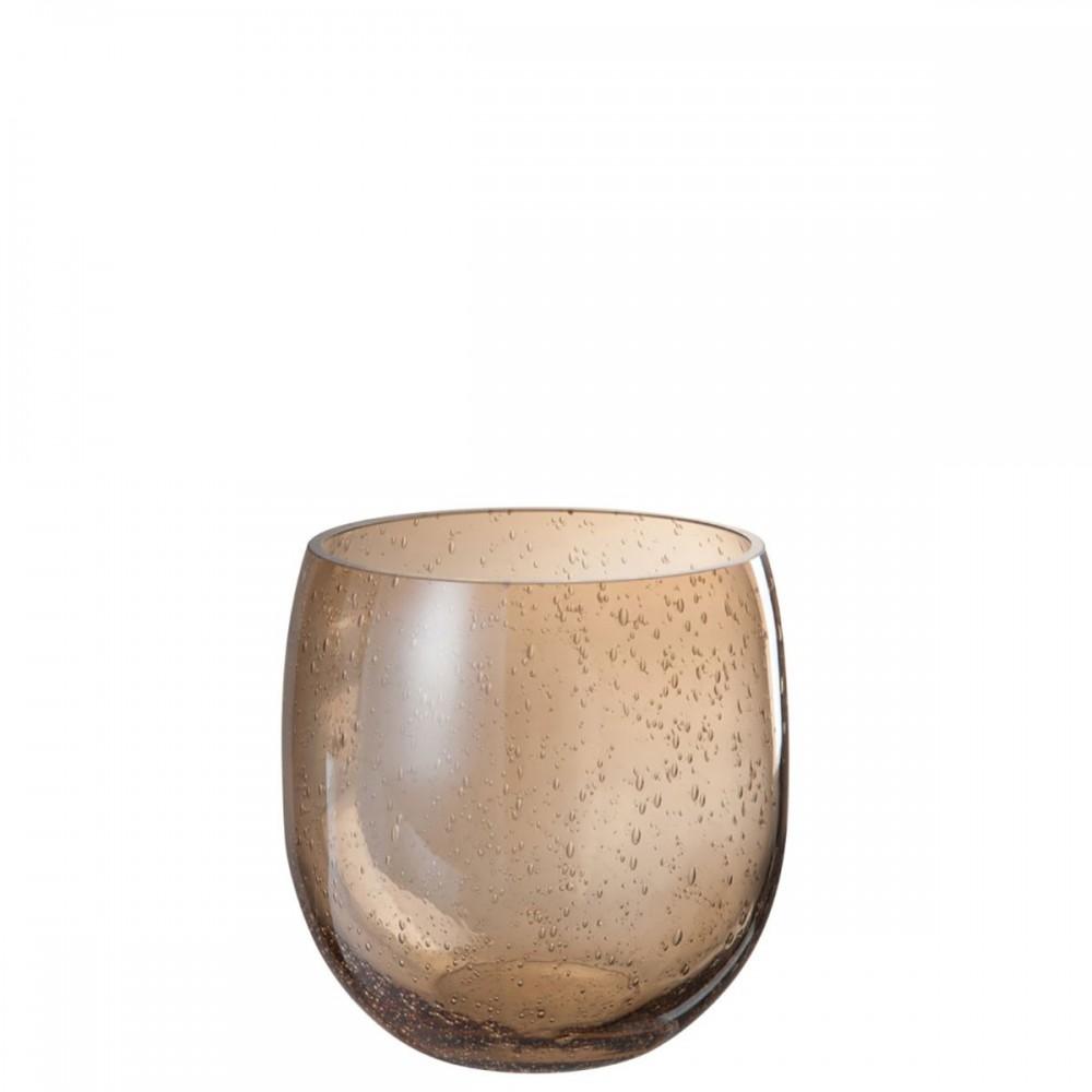 Vase Bulle D'Air Verre Ambre petit