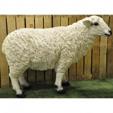 Mouton de jardin en résine