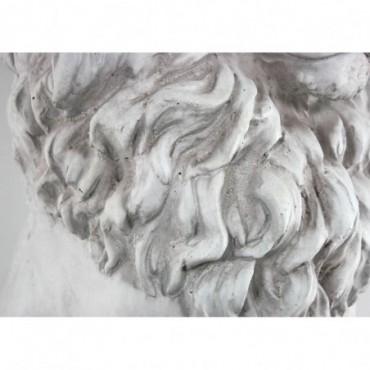 Statue de Lion Assis en résine Effet Pierre