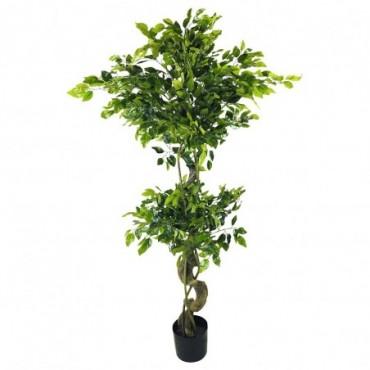 Ficus artificiel avec tronc torsadé 155cm