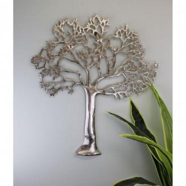 Plaque murale arbre de vie en métal 61cm