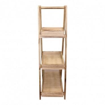 Support à 3 plateaux en bois de style échelle