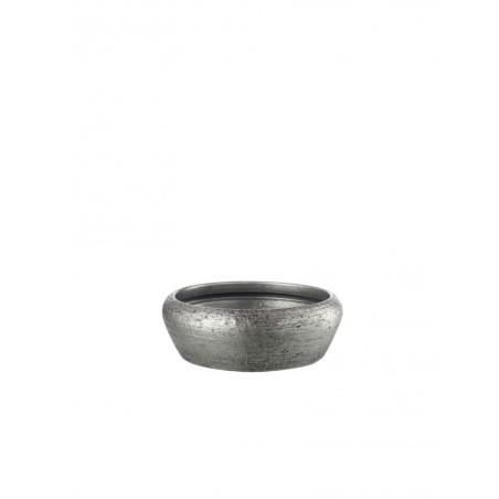 Cache pot Bas Relief Ceramique Argent