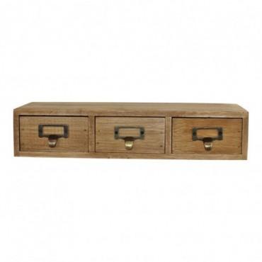 Petit meuble rustique à 3 tiroirs en bois