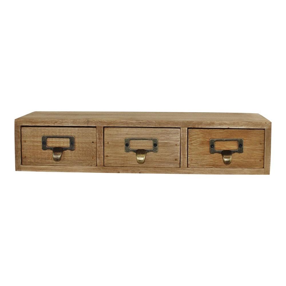 petit meuble rustique a 3 tiroirs en bois plante ta deco com